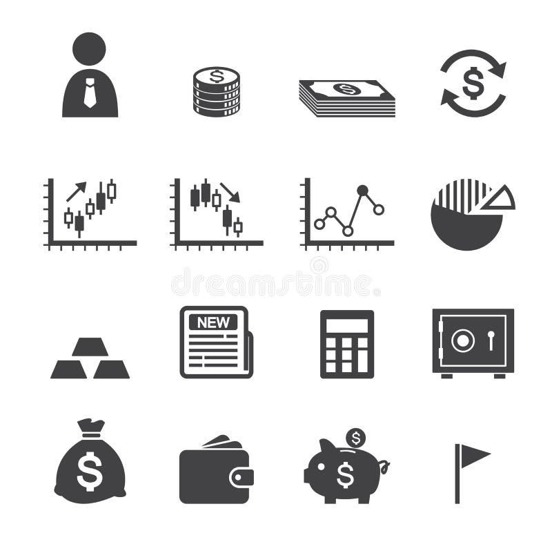 Χρήματα και εικονίδιο χρηματοδότησης ελεύθερη απεικόνιση δικαιώματος