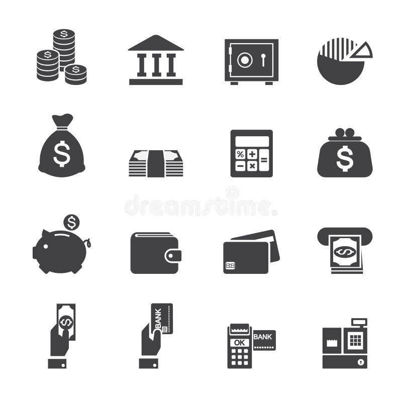 Χρήματα και εικονίδιο χρηματοδότησης διανυσματική απεικόνιση