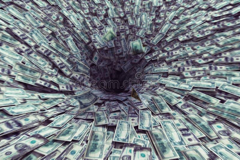 Χρήματα μαύρων τρυπών στοκ εικόνες με δικαίωμα ελεύθερης χρήσης