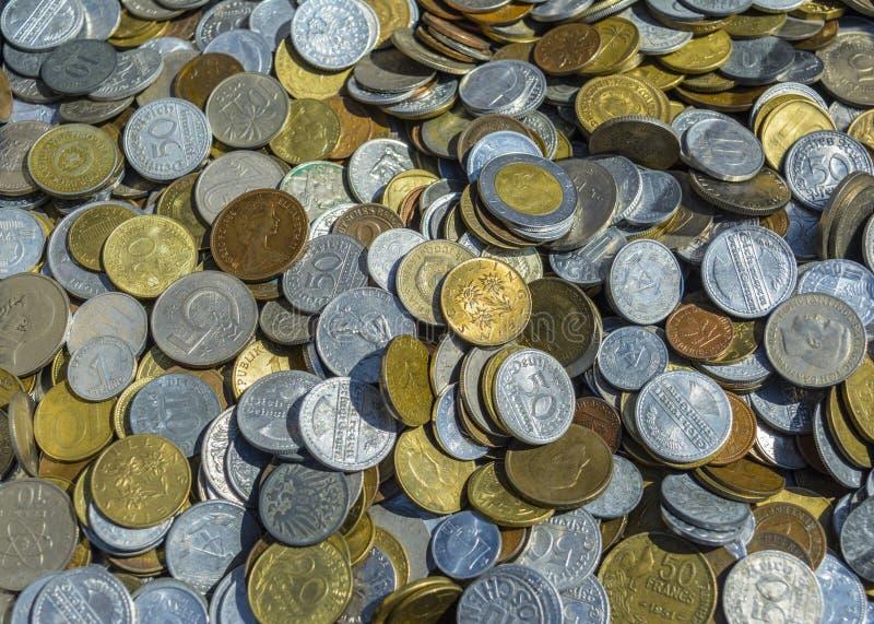 χρήματα μετάλλων παλαιά στοκ εικόνες