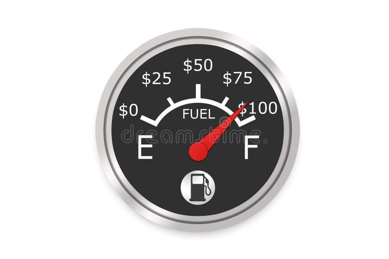 χρήματα μετρητών καυσίμων απεικόνιση αποθεμάτων