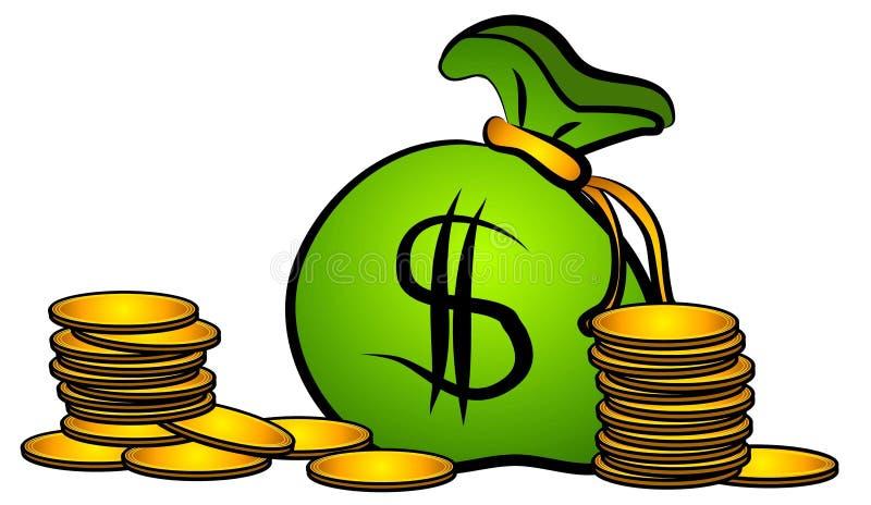 χρήματα νομισμάτων συνδετή& ελεύθερη απεικόνιση δικαιώματος