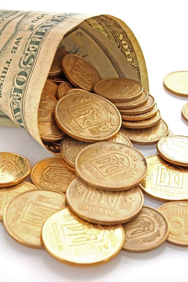 χρήματα νομισμάτων στοκ εικόνα με δικαίωμα ελεύθερης χρήσης