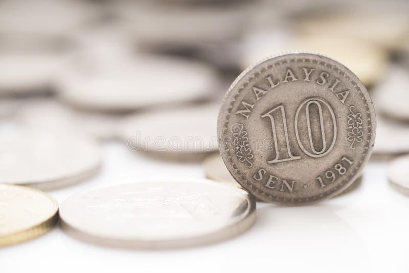 Χρήματα παλαιά στάση 1981 της Μαλαισίας νομισμάτων 10 σεντ στοκ φωτογραφία με δικαίωμα ελεύθερης χρήσης