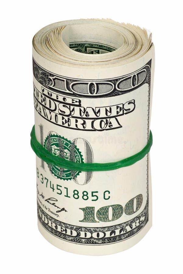 χρήματα που κυλιούνται στοκ φωτογραφία