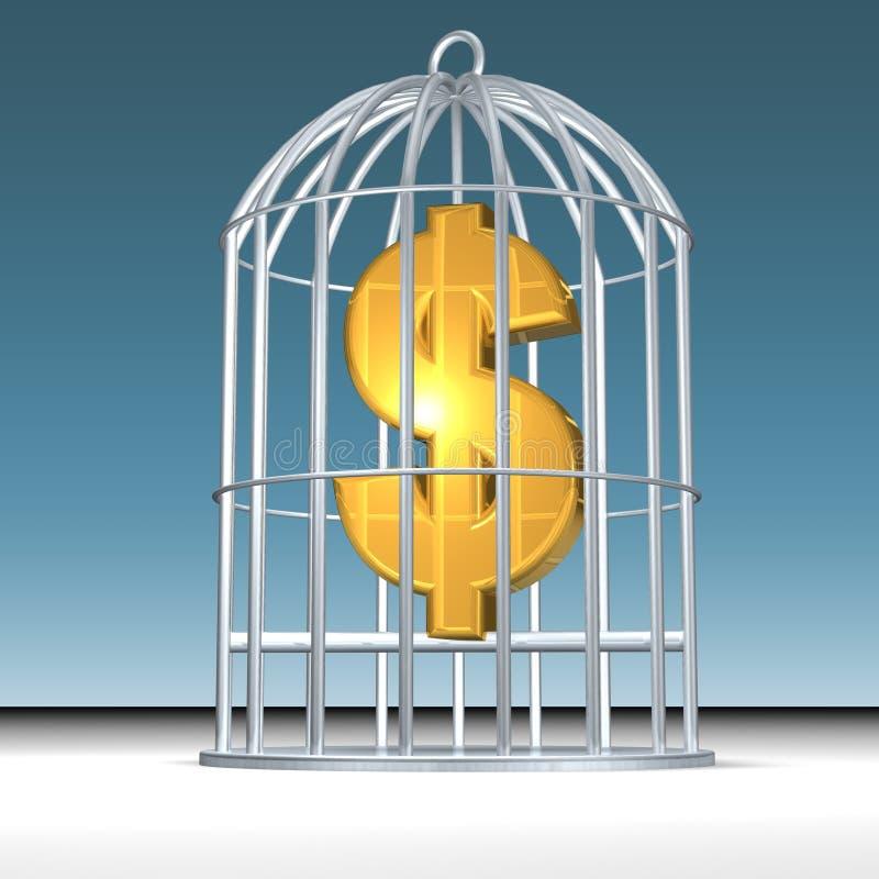 χρήματα που παγιδεύονται απεικόνιση αποθεμάτων