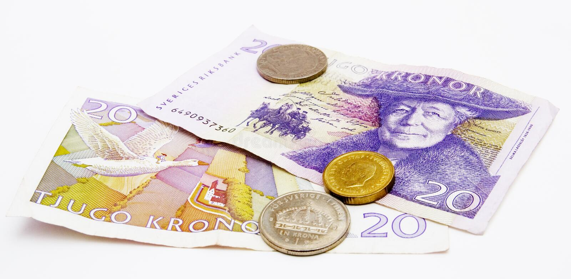 χρήματα σουηδικά στοκ εικόνες