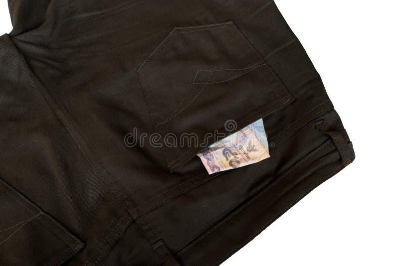 Χρήματα στα κοντά εσώρουχα στοκ φωτογραφία με δικαίωμα ελεύθερης χρήσης