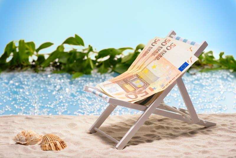 Χρήματα στις διακοπές στοκ εικόνα