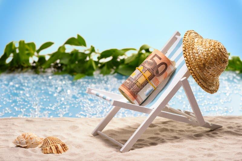 Χρήματα στις διακοπές στοκ φωτογραφία με δικαίωμα ελεύθερης χρήσης