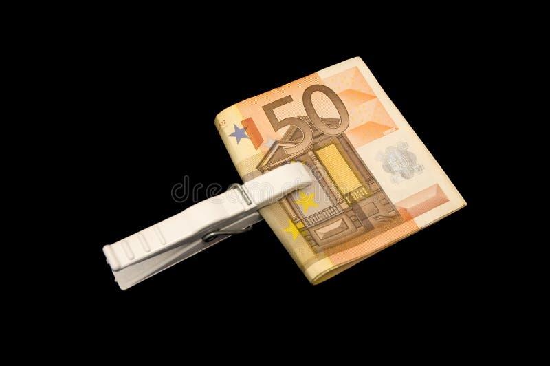 χρήματα συνδετήρων στοκ εικόνα