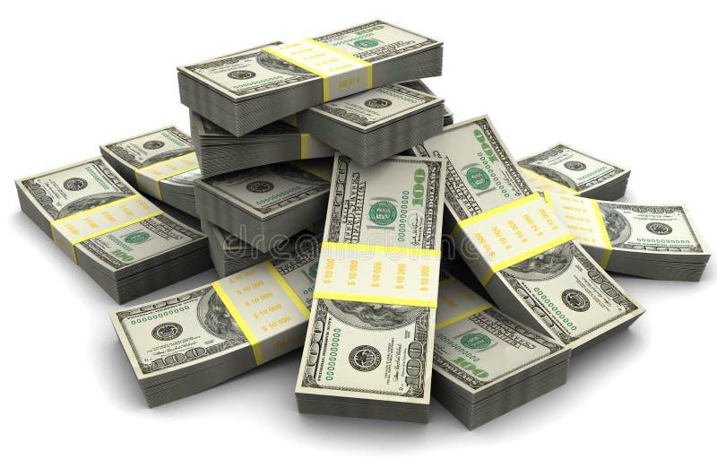 χρήματα σωρών απεικόνιση αποθεμάτων
