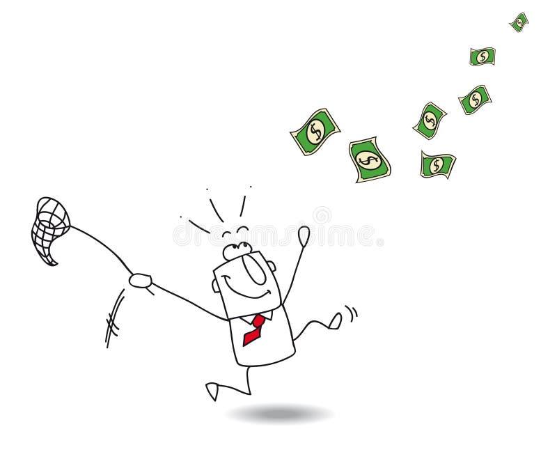 Χρήματα σύλληψης ελεύθερη απεικόνιση δικαιώματος