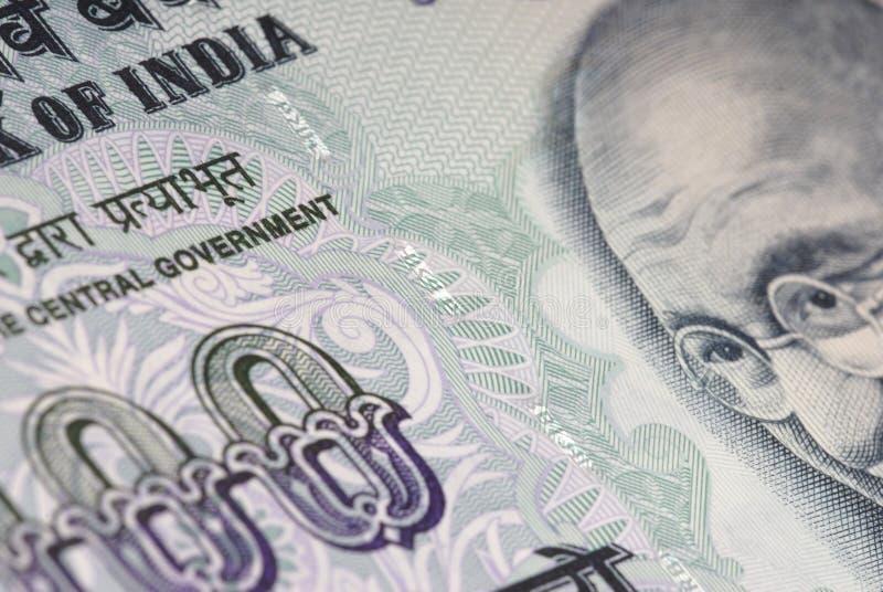 χρήματα της Ινδίας λεπτομέρειας στοκ εικόνα