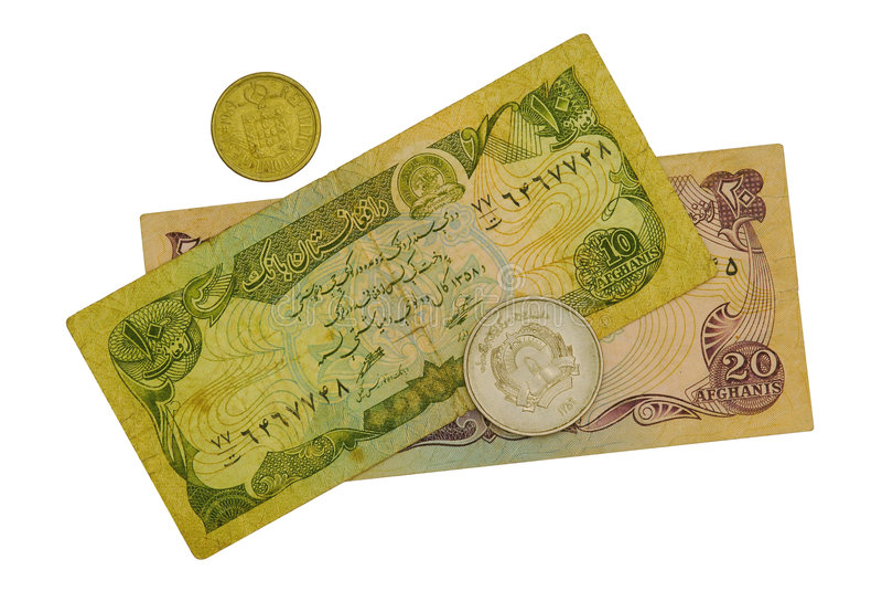 χρήματα του Αφγανιστάν στοκ φωτογραφίες
