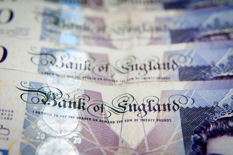 Χρήματα Τράπεζας της Αγγλίας στοκ εικόνα με δικαίωμα ελεύθερης χρήσης