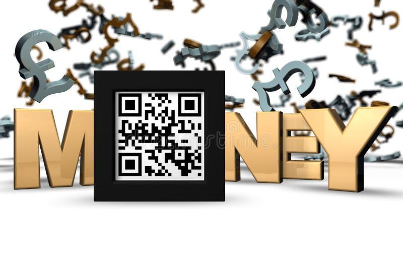 Χρήματα τρισδιάστατο QR ελεύθερη απεικόνιση δικαιώματος