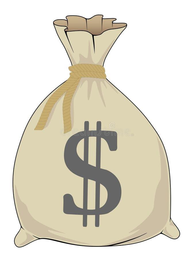 χρήματα τσαντών ελεύθερη απεικόνιση δικαιώματος