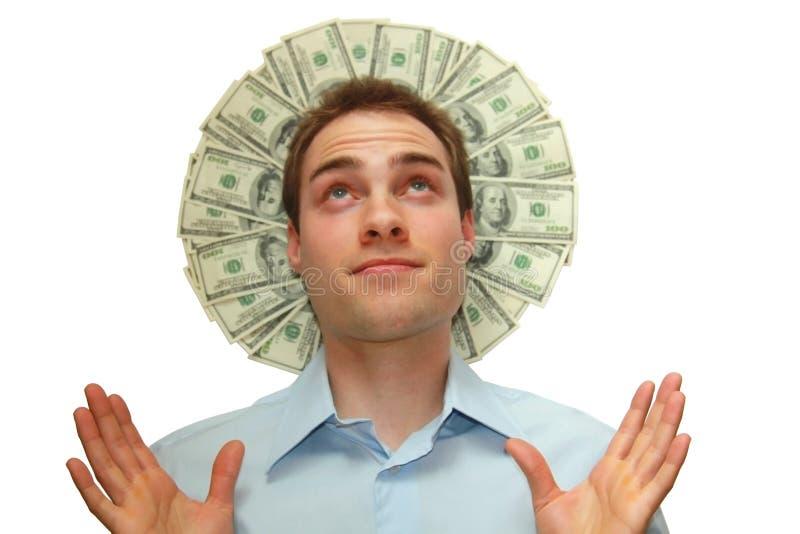 χρήματα φωτοστεφάνου στοκ εικόνες