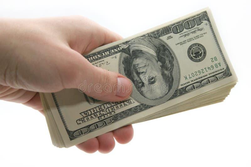 χρήματα χεριών στοκ εικόνα