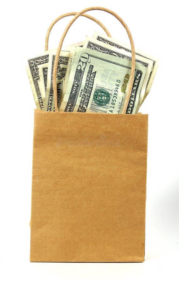 χρήματα 2 τσαντών στοκ εικόνες