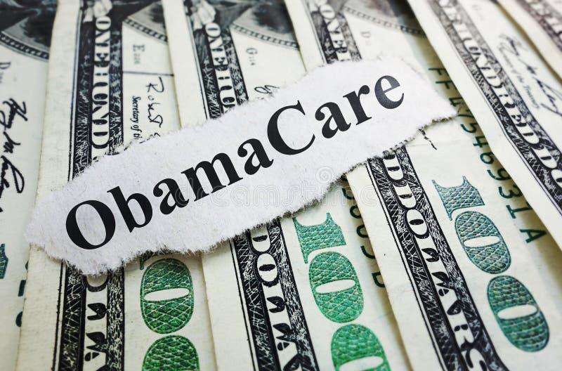 Χρήματα Obamacare στοκ φωτογραφία με δικαίωμα ελεύθερης χρήσης