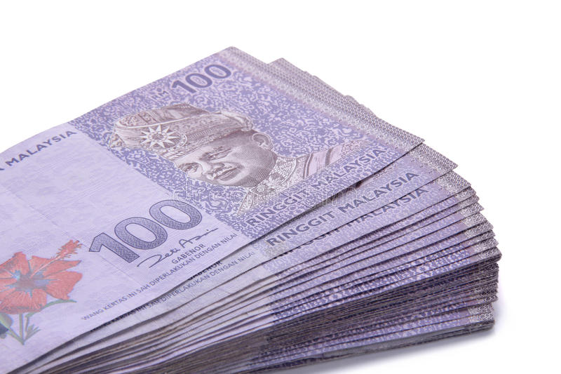 Χρήματα RINGGIT εκατό που συσσωρεύονται στοκ φωτογραφία με δικαίωμα ελεύθερης χρήσης