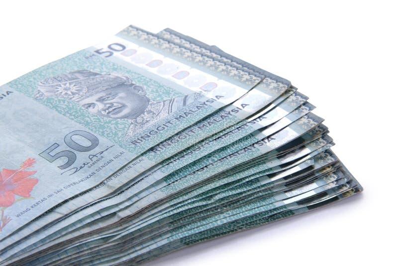 Χρήματα RINGGIT πενήντα που συσσωρεύονται στοκ φωτογραφία με δικαίωμα ελεύθερης χρήσης