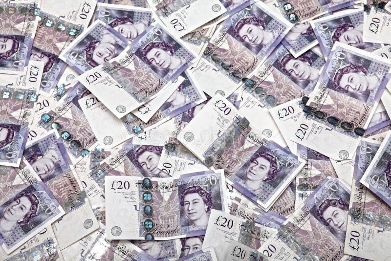 χρήματα UK τραπεζογραμματίων στοκ εικόνες