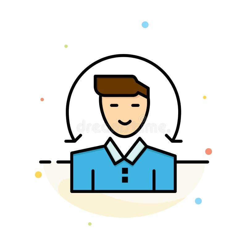 Χρήστης, αρσενικό, πελάτης, αφηρημένο επίπεδο πρότυπο εικονιδίων χρώματος υπηρεσιών απεικόνιση αποθεμάτων