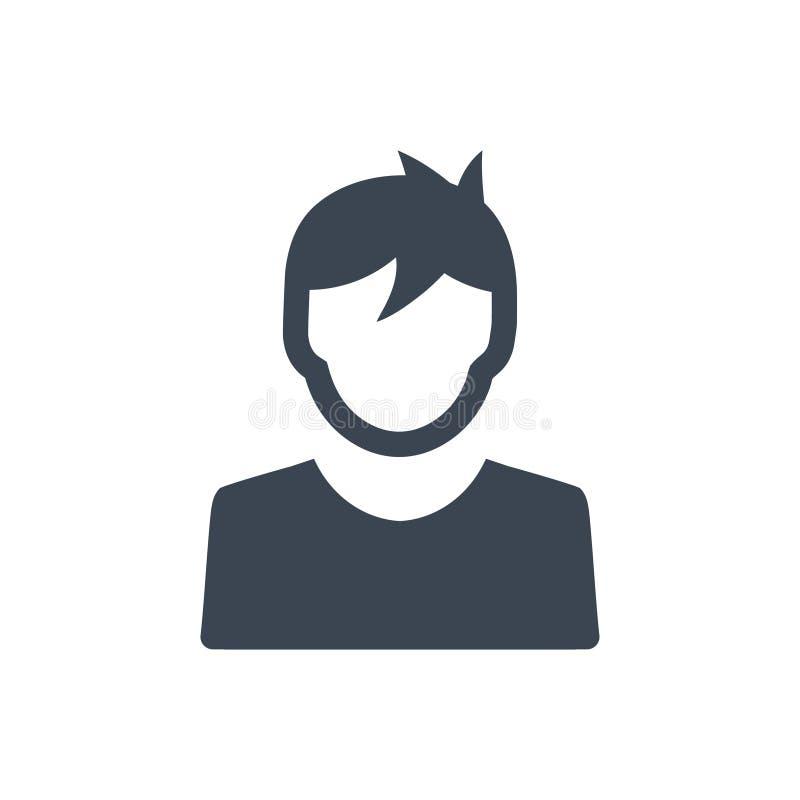 Χρήστης, εικονίδιο αγοριών απεικόνιση αποθεμάτων