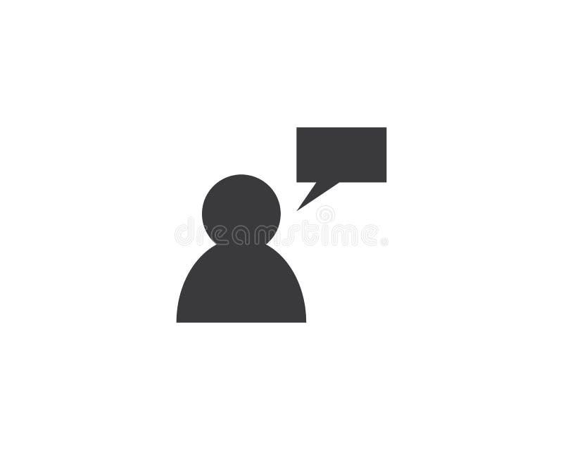 Χρήστης και λεκτική φυσαλίδα διανυσματική απεικόνιση