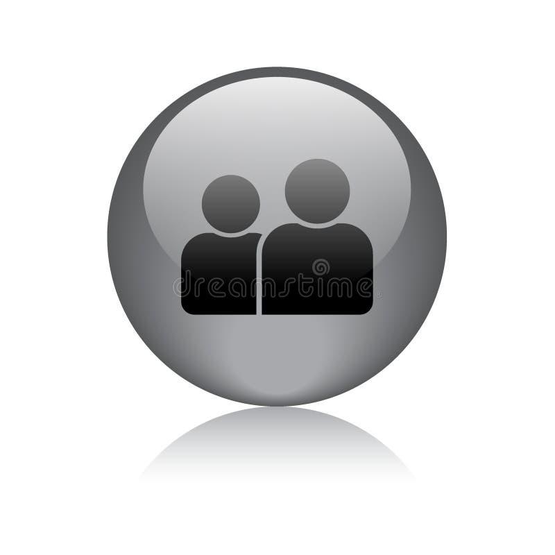 Χρήστης/κουμπί εικονιδίων σχεδιαγράμματος διανυσματική απεικόνιση