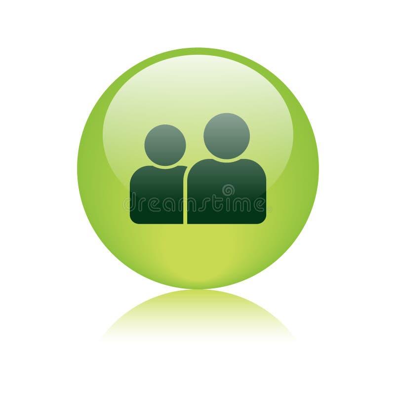 Χρήστης/κουμπί εικονιδίων σχεδιαγράμματος ελεύθερη απεικόνιση δικαιώματος
