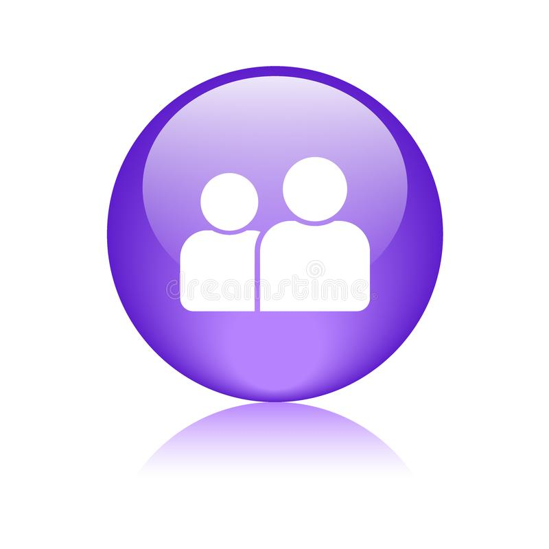 Χρήστης/κουμπί σχεδιαγράμματος/εικονιδίων διανυσματική απεικόνιση