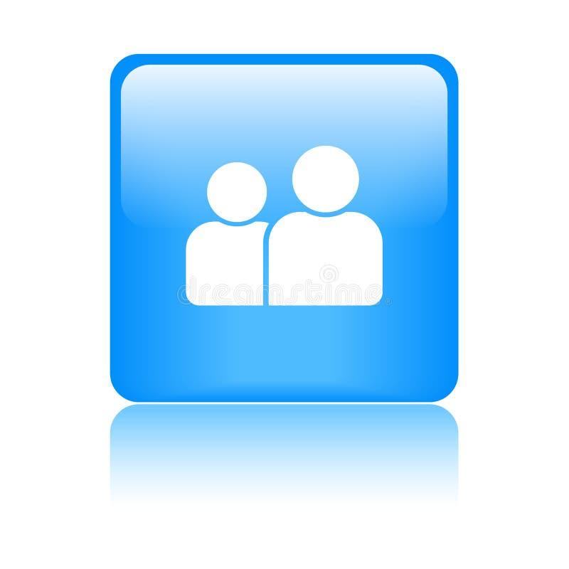 Χρήστης/κουμπί σχεδιαγράμματος/εικονιδίων ελεύθερη απεικόνιση δικαιώματος