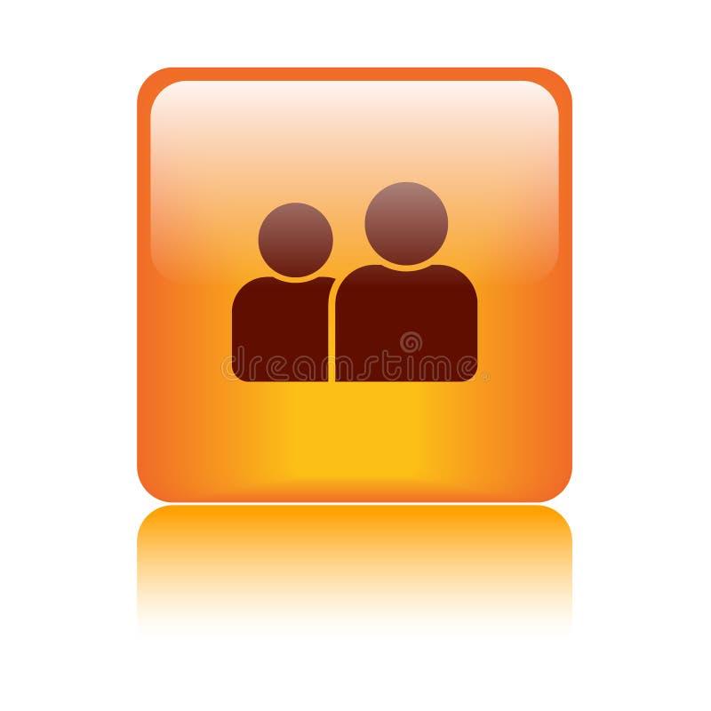 Χρήστης/κουμπί σχεδιαγράμματος/εικονιδίων απεικόνιση αποθεμάτων