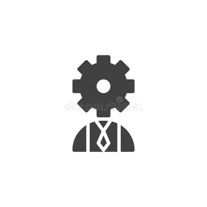 Χρήστης με το επικεφαλής διανυσματικό εικονίδιο εργαλείων απεικόνιση αποθεμάτων