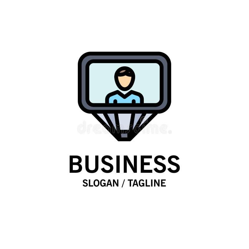 Χρήστης, σχεδιάγραμμα, ταυτότητα, πρότυπο επιχειρησιακών λογότυπων σύνδεσης Επίπεδο χρώμα απεικόνιση αποθεμάτων