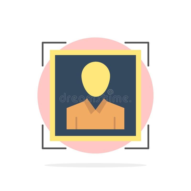 Χρήστης, χρήστης - ταυτότητα, ταυτότητα, σχεδιαγράμματος εικόνας αφηρημένο κύκλων εικονίδιο χρώματος υποβάθρου επίπεδο διανυσματική απεικόνιση