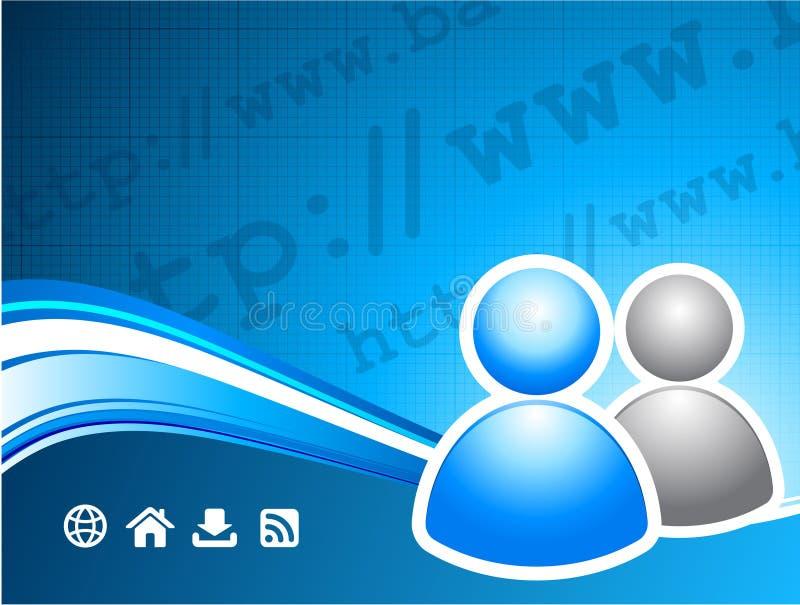 χρήστης του Ίντερνετ ομάδ&alph διανυσματική απεικόνιση