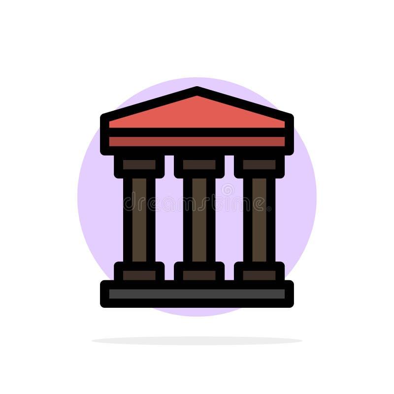 Χρήστης, τράπεζα, μετρητών αφηρημένο κύκλων εικονίδιο χρώματος υποβάθρου επίπεδο διανυσματική απεικόνιση