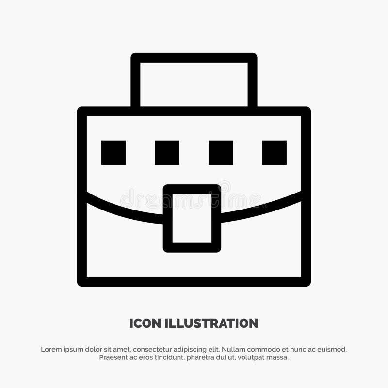 Χρήστης, τσάντα, επιχείρηση, διάνυσμα εικονιδίων γραμμών γραφείων διανυσματική απεικόνιση
