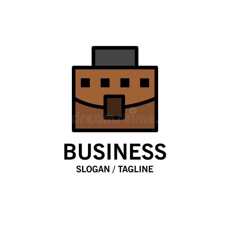 Χρήστης, τσάντα, επιχείρηση, πρότυπο επιχειρησιακών λογότυπων γραφείων Επίπεδο χρώμα διανυσματική απεικόνιση