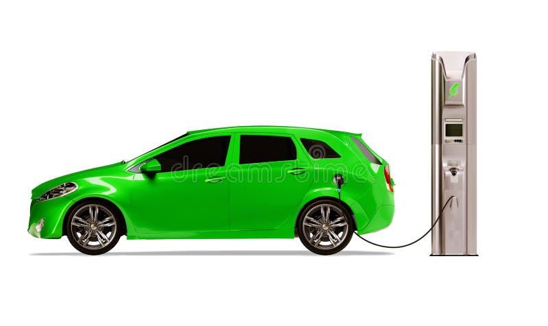 χρεώνοντας ηλεκτρικό όχημ&al στοκ εικόνες