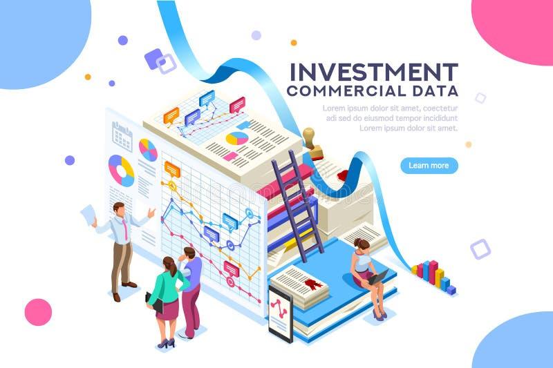 Χρηματοδότηση και εμπορική εργασία ανάλυσης επενδύσεων ελεύθερη απεικόνιση δικαιώματος
