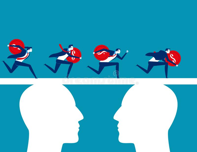 Χρηματοδότηση Χρηματοδότηση ομάδων επιχειρηματιών Επιχειρησιακή διανυσματική απεικόνιση έννοιας, επίπεδος επιχειρησιακός χαρακτήρ διανυσματική απεικόνιση