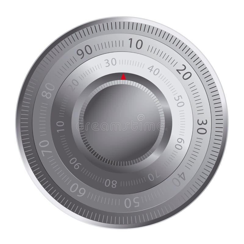 χρηματοκιβώτιο κλειδωμά διανυσματική απεικόνιση