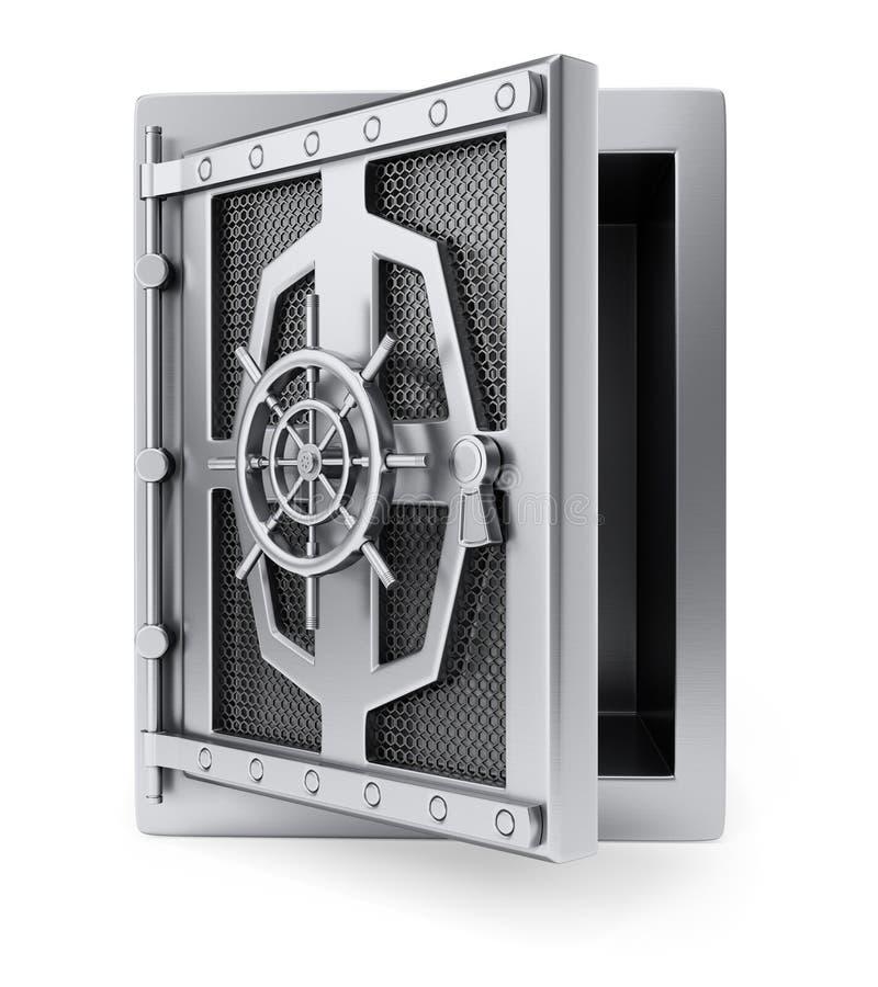 Χρηματοκιβώτιο με το άνοιγμα της πόρτας ελεύθερη απεικόνιση δικαιώματος