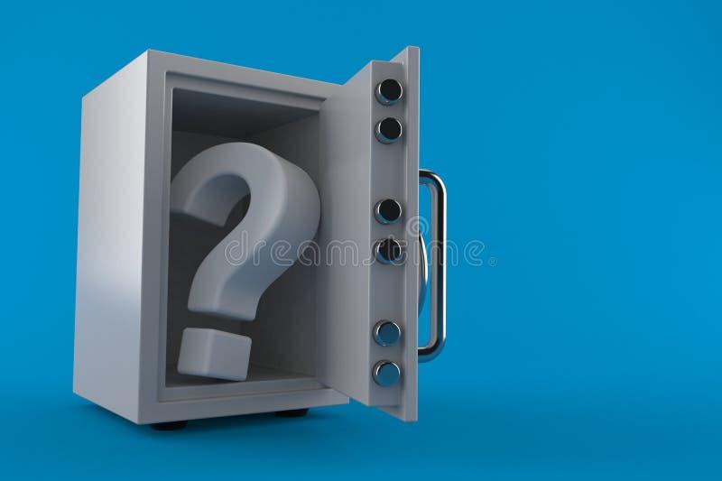 Χρηματοκιβώτιο με το ερωτηματικό διανυσματική απεικόνιση